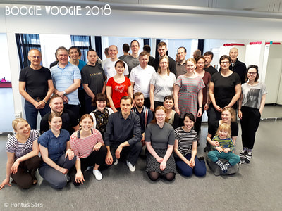 Boogie Woogie workshop with Ritz Lindy Hoppers at Swing Wasa in Vaasa 2018